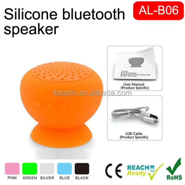Unique design sucker cup mini portable speaker hands-free with suction Holder