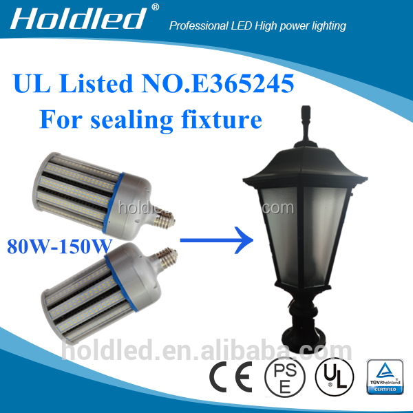 No Fan DLC 150w led corn lights UL street cob corn lamps for outdoor