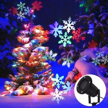 Outdoor Waterproof Flashing LED Snowflake Light LED Projector Christmas Lamp