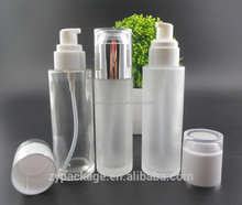 120ml glass cosmetic bottle 4oz cream bottle with pump 100 ml frosted glass bottle cosmetic oil 100ml