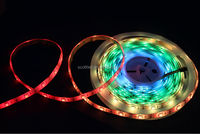 WS2811 rgb dream color led strip with connector;DC5V input; 5m/roll;White PCB;Waterproof silicon coating IP65