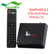 China factory Supply K2 Pro DVB S2+T2 Quad Core S905 Android 5.1 TV Box KII Pro 4k Satellite receiver