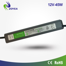 Waterproof ip67 constant voltage 45w 12vdc slim led power supply led strip lighting driver