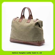 15632 Design Women's HandBag New Trendy Retro Fashion Leather Canvas Bag