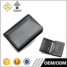 New Custom phone slim rfid credit card genuine leather gift place name business leather card holder