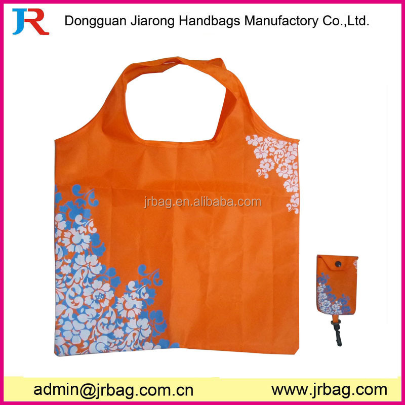 Recycled OEM polyester foldable bag,folding shopping bag,foldable tote bag