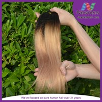 Wholesale Top Selling Hair Weave ombre 1b/27 Brazilian Human Hair Weave Unprocessed virgin brazilian hair wholesale