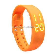 W2 USB LED Smart Wrist Band / Time / Calorie / 3D Pedometer / Temperature / Sleep Monitor Kids USB bracelets