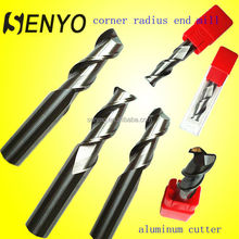 Carbide corner radius cut tools for aluminum bits for road milling