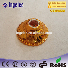 golden brass E27 china supplier light lamp socket