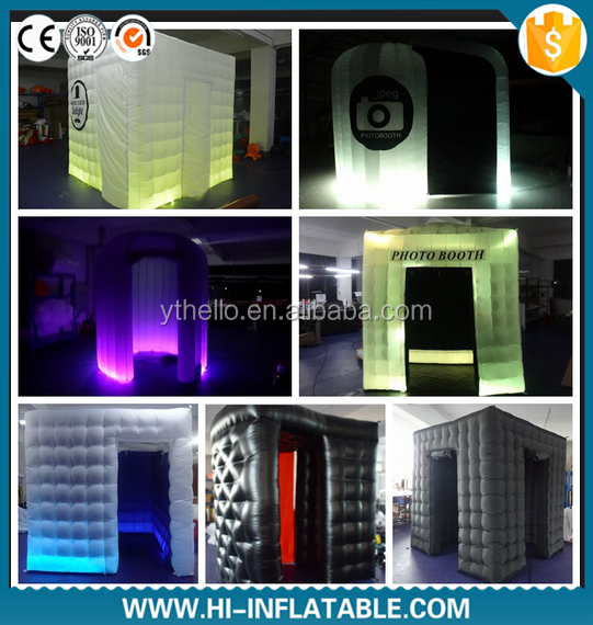 Hot selling Camera machine led lighting inflatable wedding photo booth props