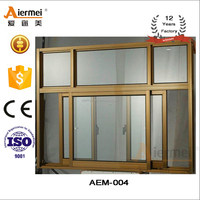 Sliding type Low-E glass aluminum window manufacturer