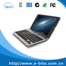 360 degree rotatable aluminium bluetooth backlit keyboard for ipad mini
