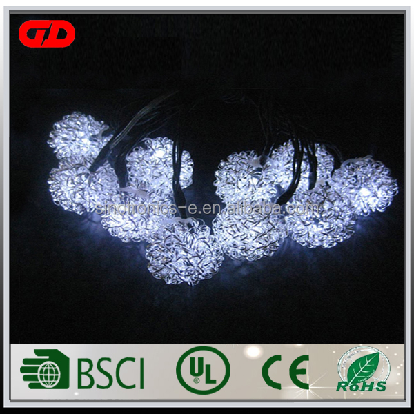 China Professional Manufacturer nice white light outdoor christmas decorations string lights