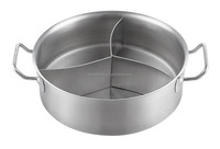 Two Handle Cooking Pot With Three Compartments With Lid