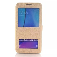 Dual Window View Pattern Flip Case For Samsung Galaxy Note 5 Phone Cover