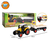 Yibao kids pull back alloy metal small scale big wheels diecast farmer tractor trailer toy