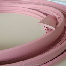 Cabinet/table furniture pvc flexible rubber t molding edging trim/decors T shape Extrusion Profile