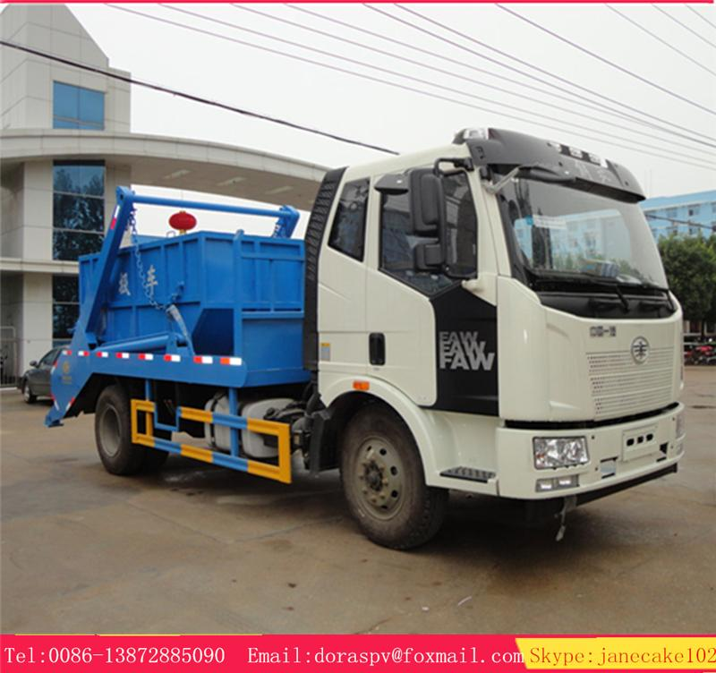 FAW 4*2 12 TON trash bin container recycle collect rear-loading garbage trucks