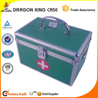 Green small aluminum first aid kits case