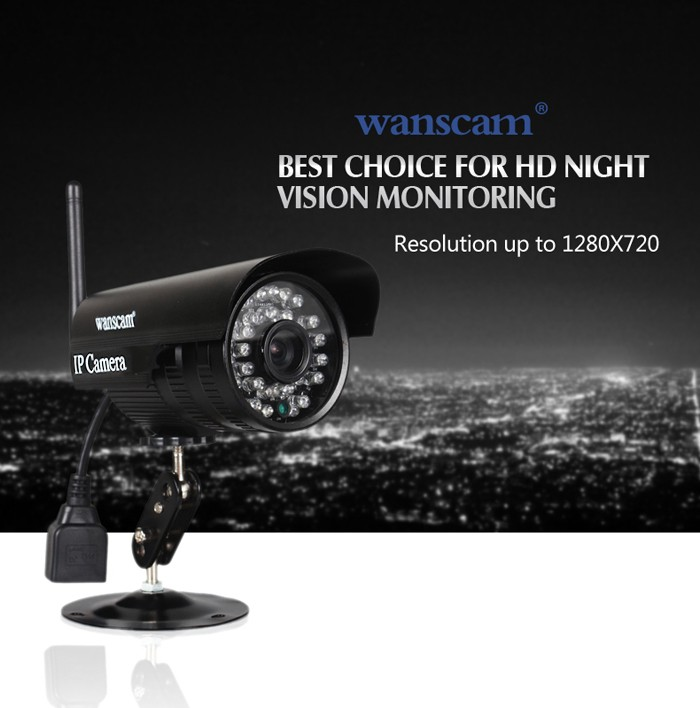 Wanscam HW0052 - 1.0MP Mini Back view Bullet P2P wifi Outdoor CCTV IP Camera