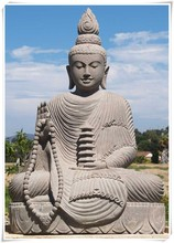 Large Outdoor Meditative Stone Buddha Statue for Sale