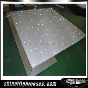 Outdoor led starlit dance floor for wedding event rental