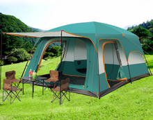 8-10 Person Large Family Outside Tent Sunscreen Rainproof Camping Tent