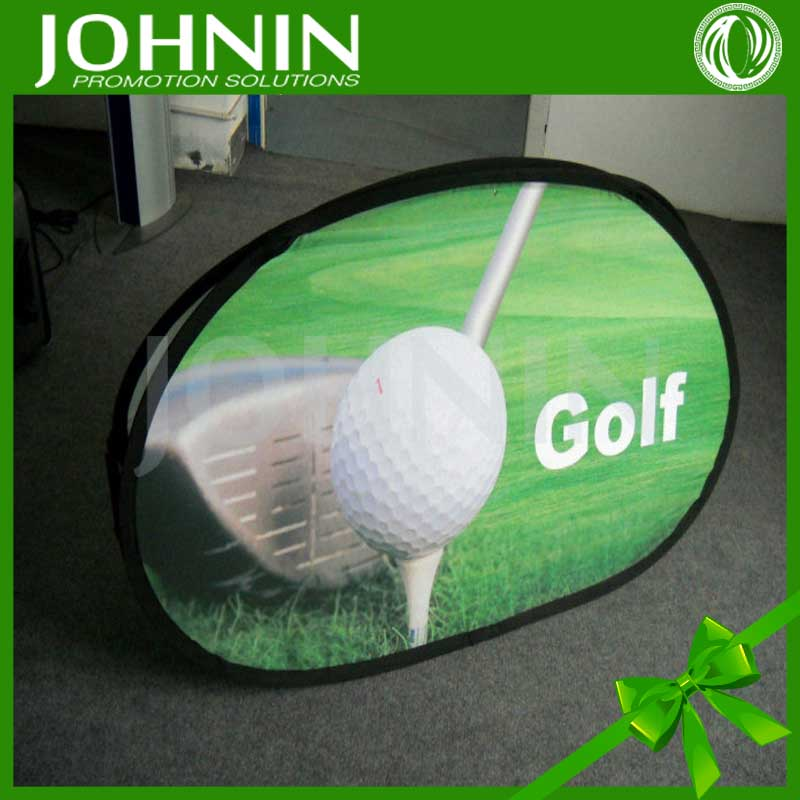 Custom print advertising use oval pop up banner new