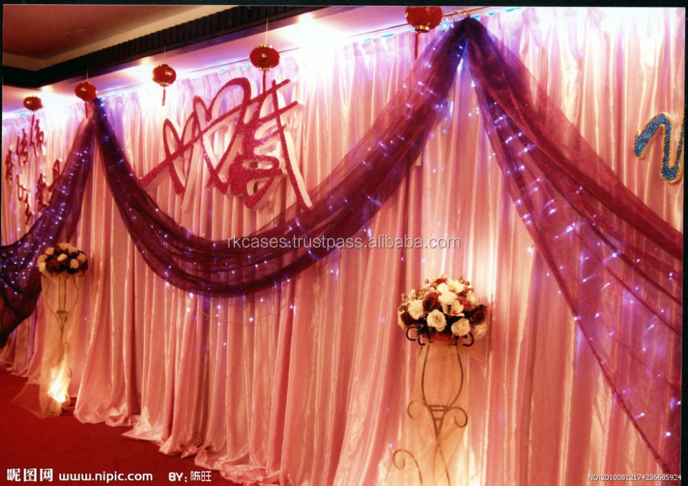 Wedding Event Supplies Portable Fabric Backdrop Decor Pipe And Drape wedding backdrop frames