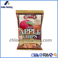 Plastic Laminated Mixed Dried Fruit and Potato apple Chips Packaging Bags/Banana chips plastic packaging bag