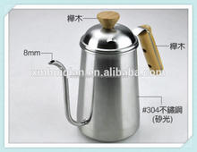 Stainless Steel Hot Pot With Wooden Handle For Tea