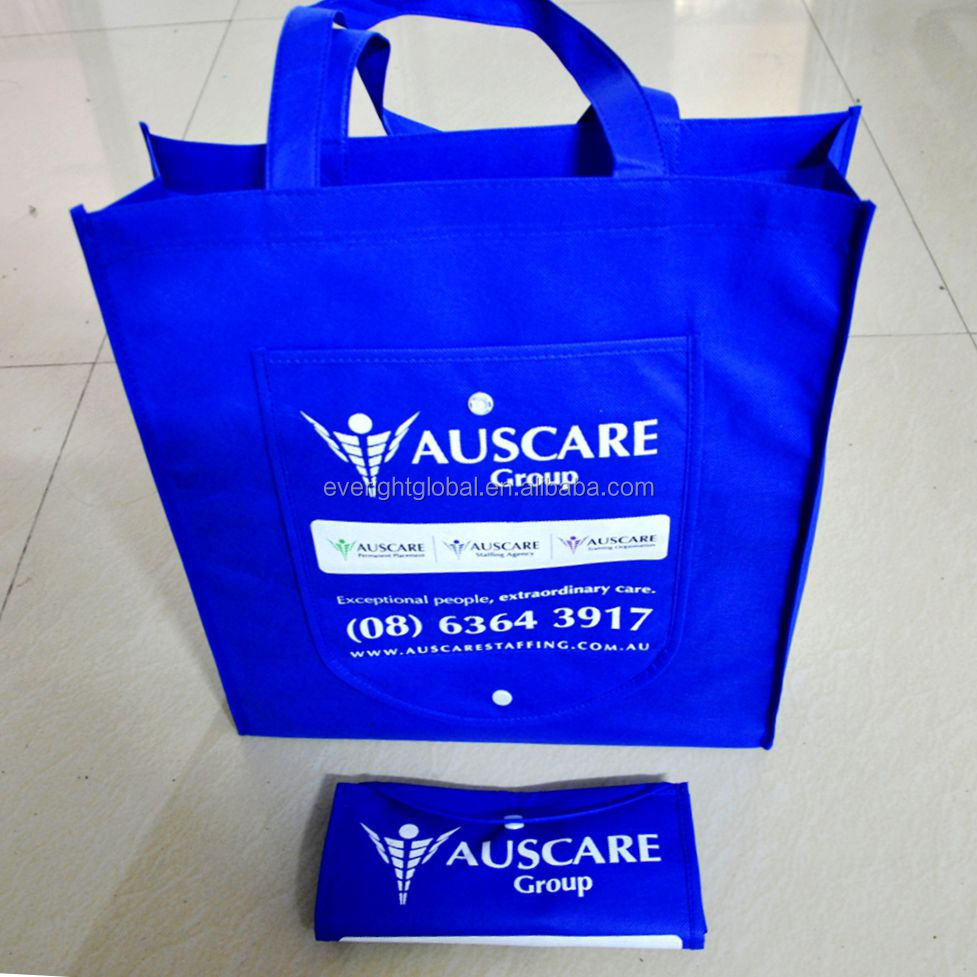 D025 - Folding non woven shopping tote bags