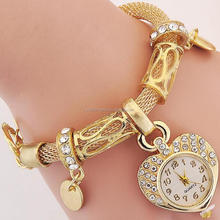 2017 new design gold plated womens gold wrist watch
