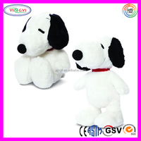 D933 Cartoon Snoopy Stuffed White Soft Snoopy Dog Plush Toy