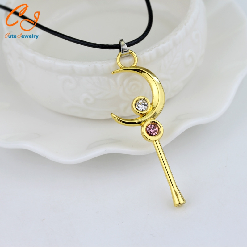 Sailor Moon Necklace Anime Jewelry For Women Girl Sailormoon Cosplay Accessories Figure Pendant Toy Gift