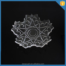 LX-P018 Crystal Glass Star unique shape dinner plate