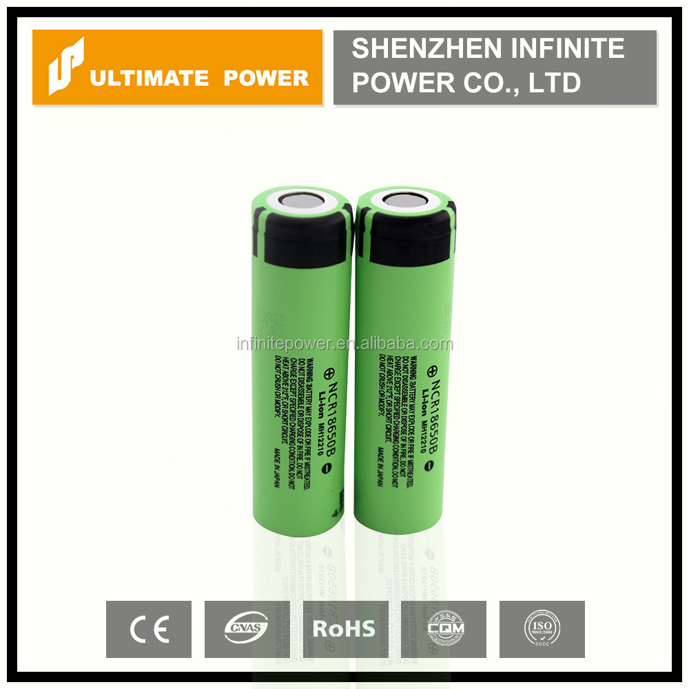18650 3.7v battery panasonic 18650 3400mah high capacity ncr18650b rechargeable li ion cell for electri scooter