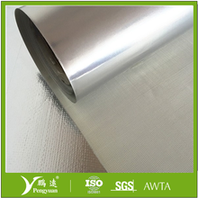 fireproof and reliably sealing aluminum foil textured fiberglass plain weave roll for wall protection