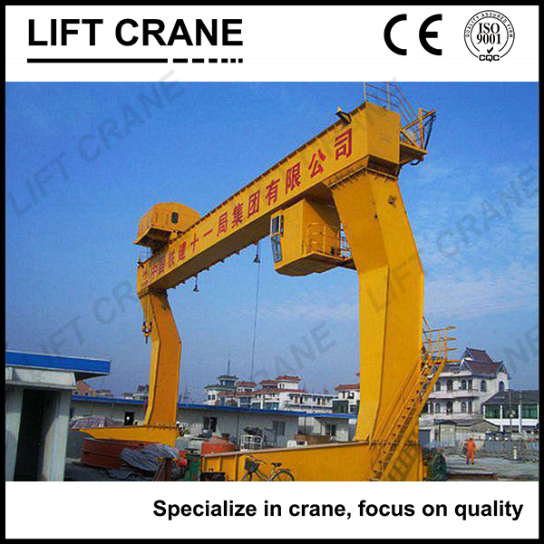 32/5t box type steel structure single girder gantry crane 30 tons