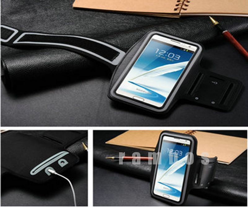 Cell Phone Arm Band Holder Sport Gym Armband Pouch Case Cover for Samsung Galaxy Note 2