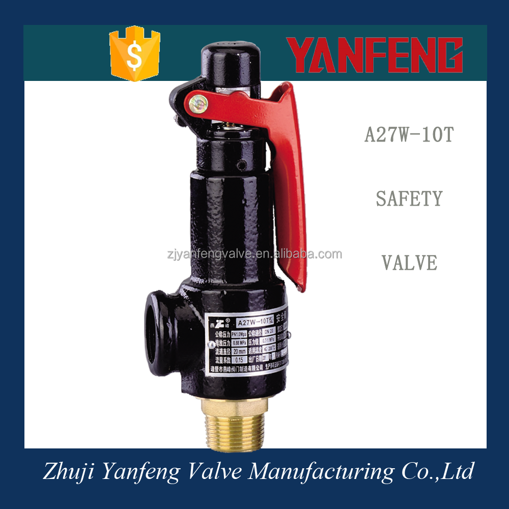Iron handle safety relief valve for air compressor