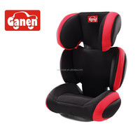 Attractive design booster car seat with backrest ECE R44/04 certification for group 2+3 (15-36kgs, 3-12year baby)
