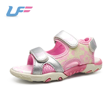 kids silver pu leather outdoor athletic dress slip on beach sandals shoes