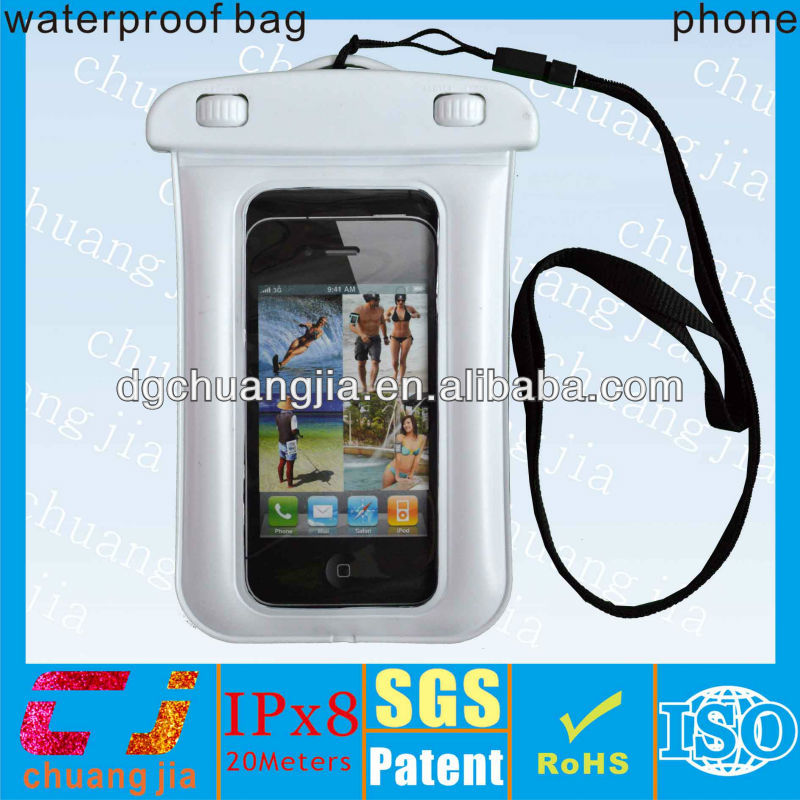 IPX8 plastic pvc waterproof pouch for iphone 5