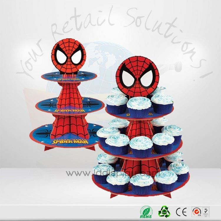 Convenient To Transport 5 Tier Cardboard Cupcake Display Stand