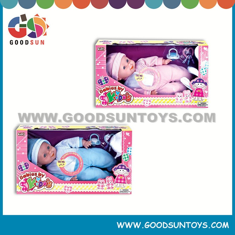 Best selling cute 14 inch cotton doll reborn baby dolls for children