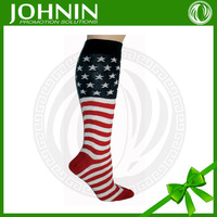 wholesale OEM cheap high quality american flag socks