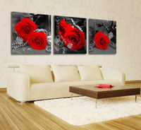 btf rose flower oil painting on canvas,canvas flower oil painting