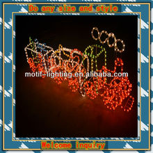 Latest new style with 3D model outdoor lighted christmas train